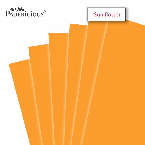 PAPERICIOUS - SunFlower - 250GSM Colored Cardstock 12x12 inch / 10 Sheets