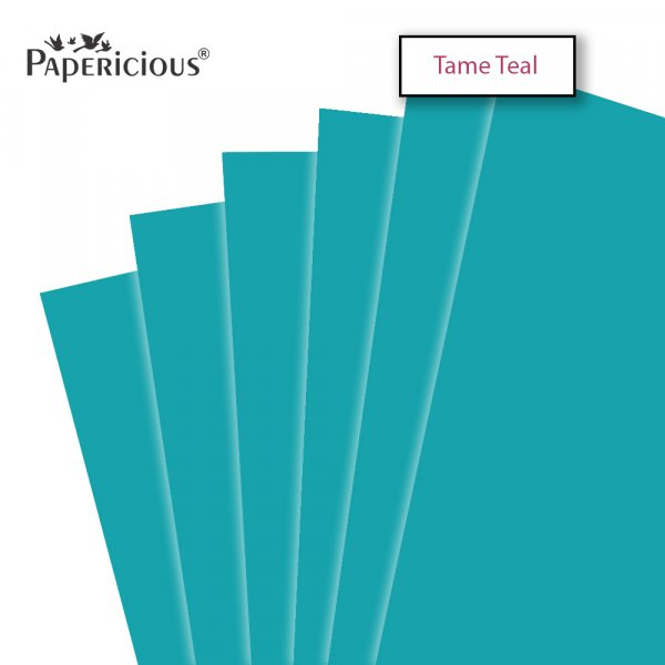 PAPERICIOUS - Tame Teal - 250GSM Colored Cardstock 12x12 inch / 10 Sheets