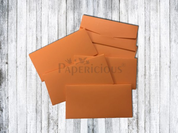Papericious - Tangy Orange - Cash Envelope 6 Pcs