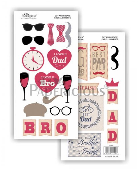 Papericious - The Gentleman -  Cut & Create Embellishments 6x12inch