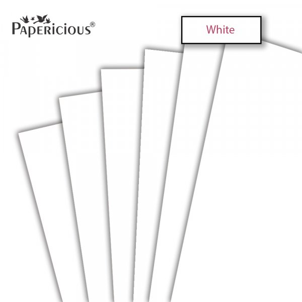 PAPERICIOUS - White - 250GSM Colored Cardstock 12x12 inch / 10 Sheets