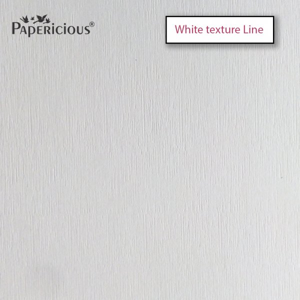 PAPERICIOUS - White Line Texture - 250GSM Colored Cardstock 12x12 inch / 10 Sheets