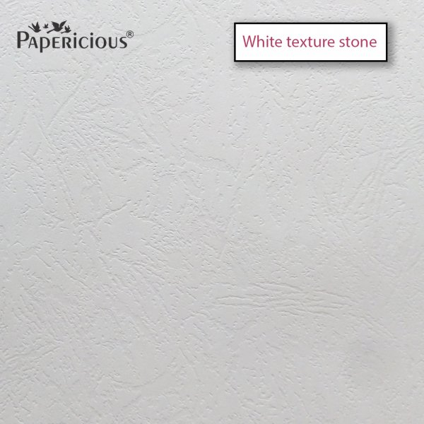 PAPERICIOUS - White Stone Texture - 250GSM Colored Cardstock 12x12 inch / 10 Sheets