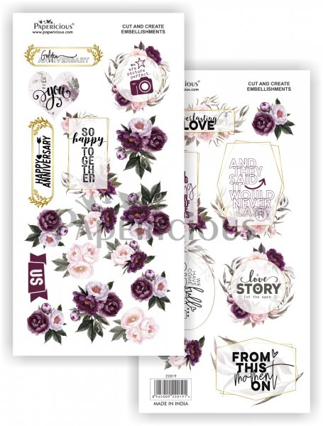 Papericious - With Love -  Cut & Create Embellishments 6x12inch