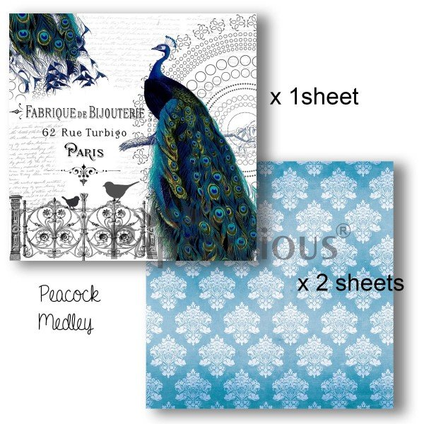 Papericious - Decoupage Papers - Peacock