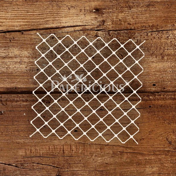 Simple lattice - 6x6 Inch Laser Cut Pattern Chipboard (1.4mm)