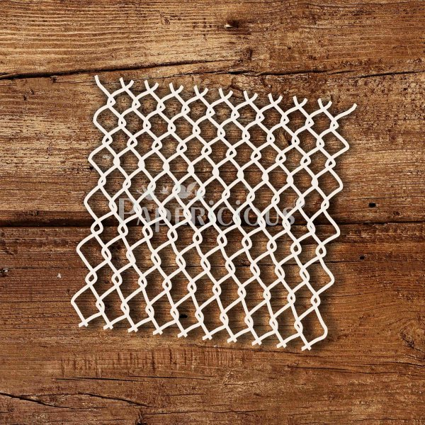 Fence- 6x6 Inch Laser Cut Pattern Chipboard (1.4mm)