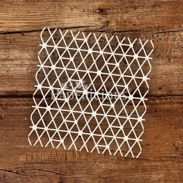 Diamond Mess- 6x6 Inch Laser Cut Pattern Chipboard (1.4mm)