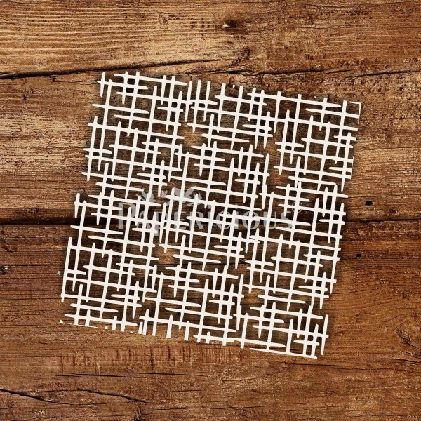 Criss Cross - 6x6 Inch Laser Cut Pattern Chipboard (1.4mm)