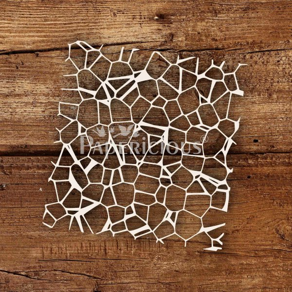 Cracked Wall - 6x6 Inch Laser Cut Pattern Chipboard (1.4mm)