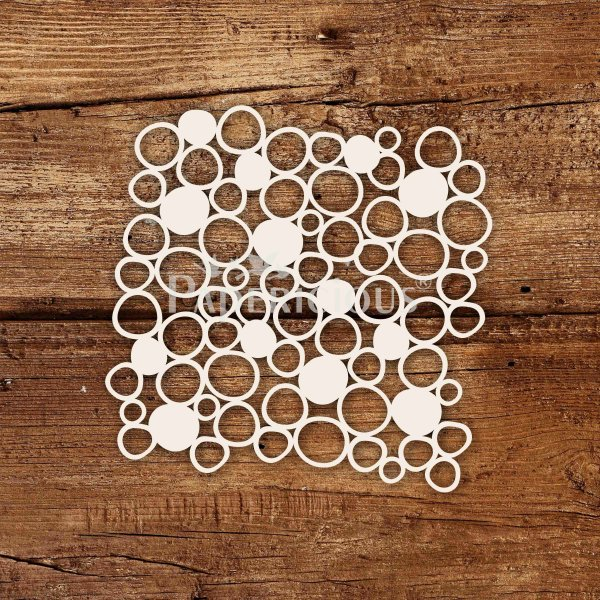 Bubbles - 6x6 Inch Laser Cut Pattern Chipboard (1.4mm)