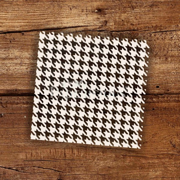 Houndstooth - 6x6 Inch Laser Cut Pattern Chipboard (1.4mm)