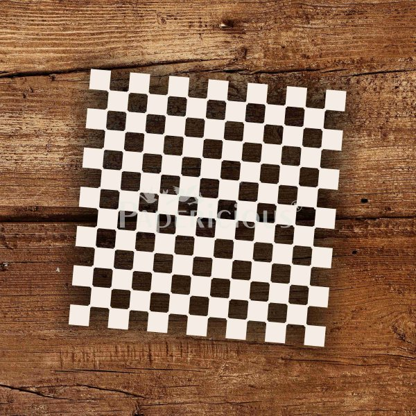Chequer - 6x6 Inch Laser Cut Pattern Chipboard (1.4mm)