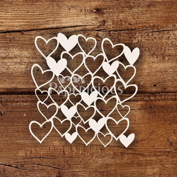 Heart Mesh- 6x6 Inch Laser Cut Pattern Chipboard (1.4mm)