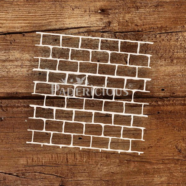 Shabby Bricks- 6x6 Inch Laser Cut Pattern Chipboard (1.4mm)