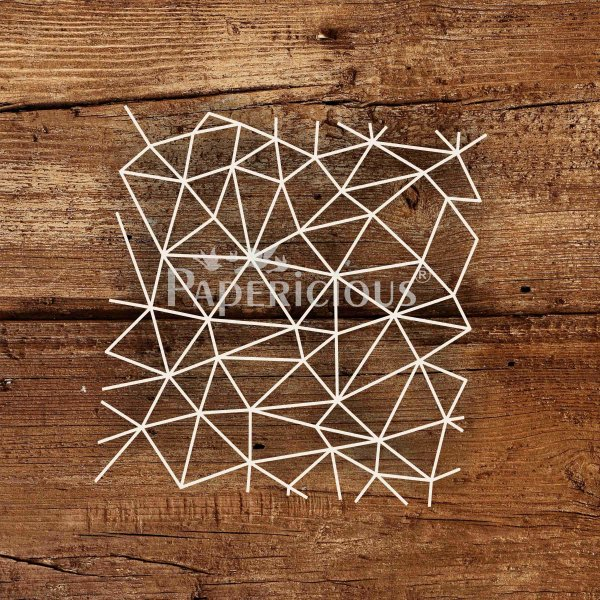 Open Geometry- 6x6 Inch Laser Cut Pattern Chipboard (1.4mm)