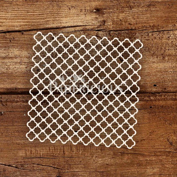Modern lattice- 6x6 Inch Laser Cut Pattern Chipboard (1.4mm)