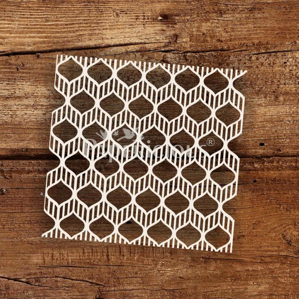 Modern Ornate- 6x6 Inch Laser Cut Pattern Chipboard (1.4mm)