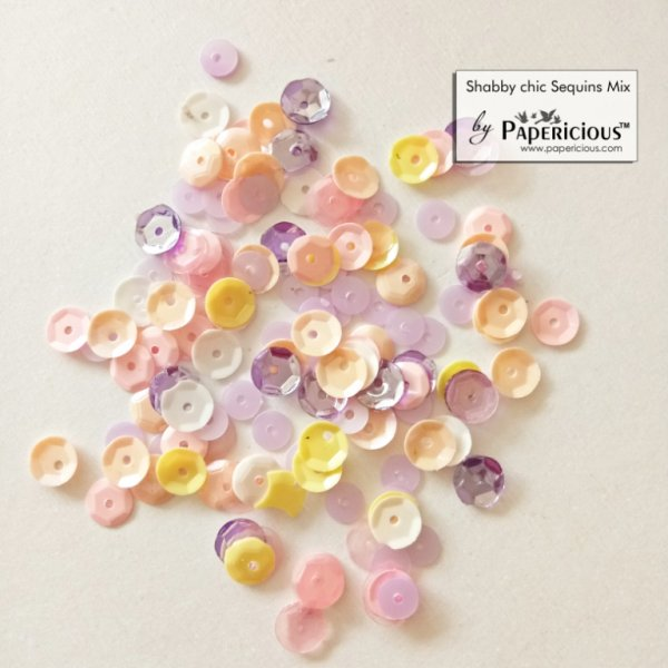 Papericious - Shaker Sequins Mix  - Shabby Chic