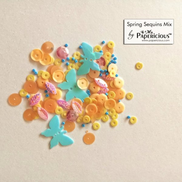 Papericious - Shaker Sequins Mix  - Spring
