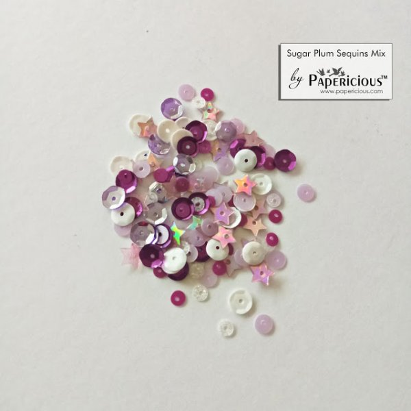 Papericious - Shaker Sequins Mix  - Sugar Plum