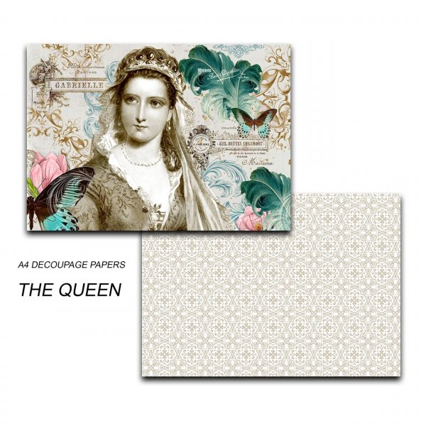 Papericious - Decoupage Papers - The Queen - A4 size