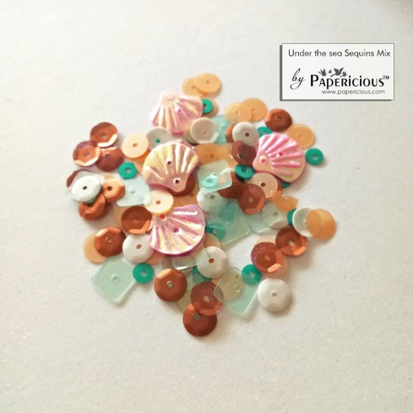 Papericious - Shaker Sequins Mix  - Under the Sea