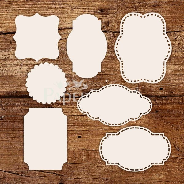 Tags - White Laser Cut Chippis