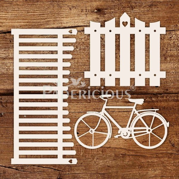 Fancy Fence - - White Laser Cut Chippis