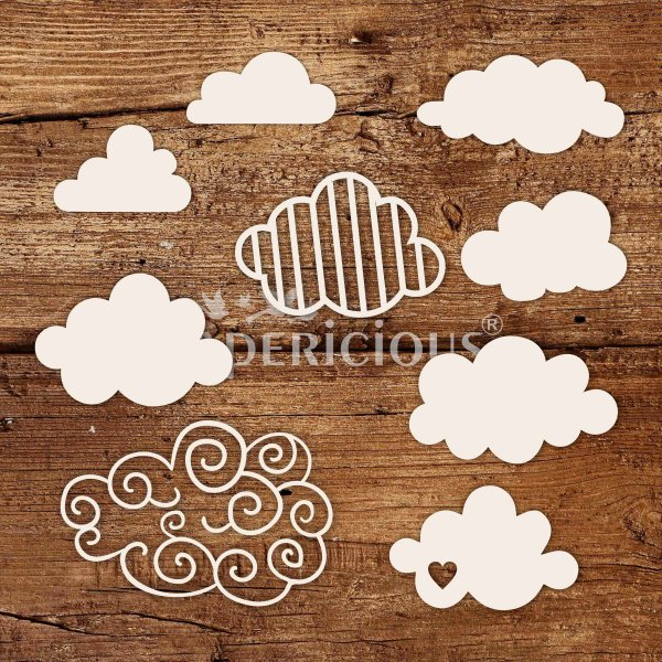 Clouds Days - White Laser Cut Chippis