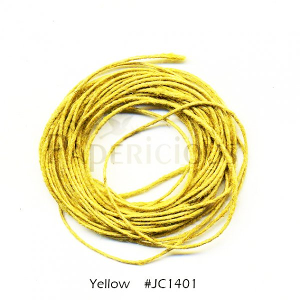 PAPERICIOUS - Yellow Jute Cord - 1.2mm thick of 5 yards